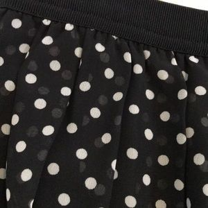 37b3de1d6f Uniqlo Skirts | Chiffon Polka Dot Mini Skirt Elastic Waist | Poshmark